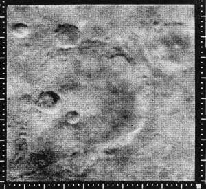 Foto de Marte tomada por el Mariner 4 Cortesía NASA/JPL-Caltech